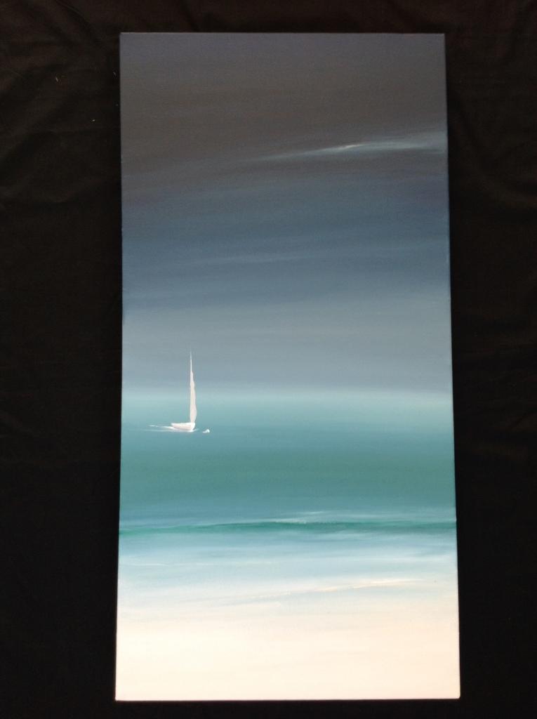 8 p.m. Polkerris, Cornwall Ref 42/14 image size 100cm x 50cm