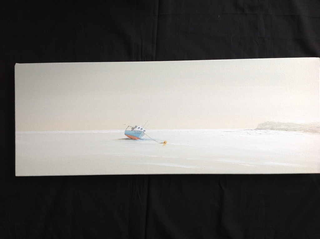 Early Morning On The Parrog, Newport, Pembs Ref 17/15 image size 30cm x 80cm