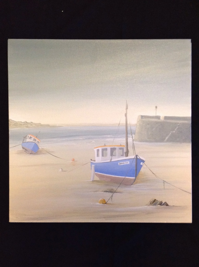 Saundersfoot From Tenby Harbour Ref 129/13 image size 50cm x 50cm