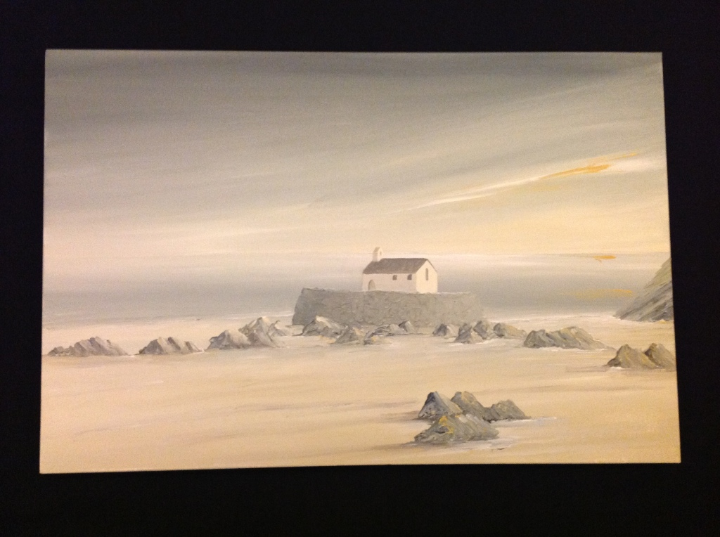 Porth Cwyfan, Anglesey Ref 134/13 size 60cm x 90xm