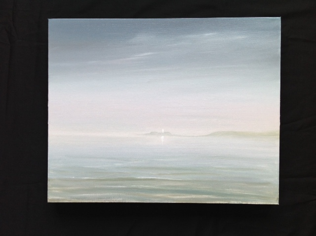 Mist Over Godrevy Head, Cornwall image size 40cm x 50cm Ref 29/13