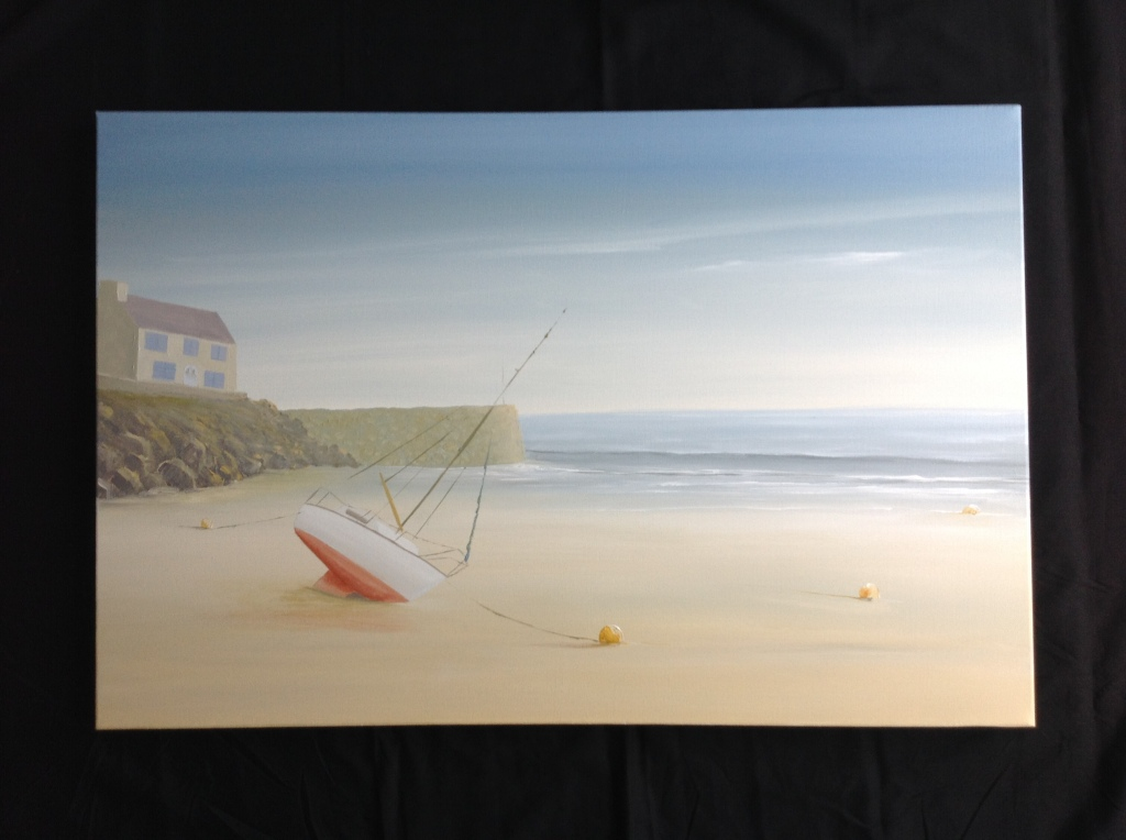 Near Dinard, Brittany image size 90cm x 60cm