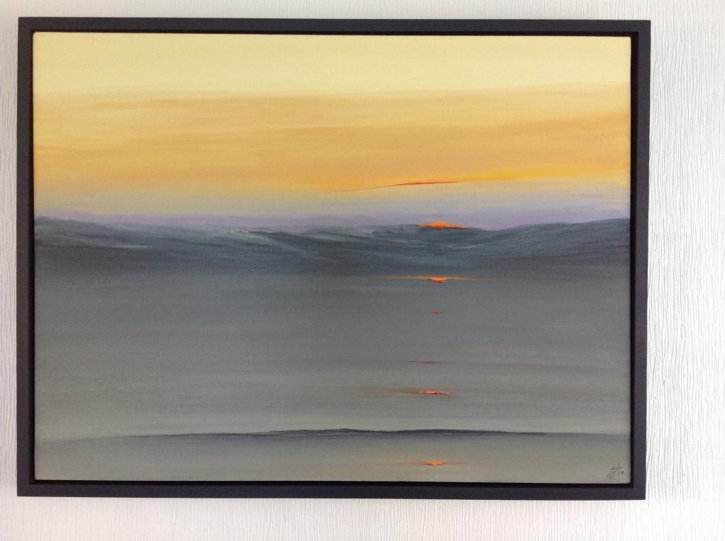 Sunset - Monknash, Vale of Glamorgan Ref 108/14 image size 107cm x 81cm
