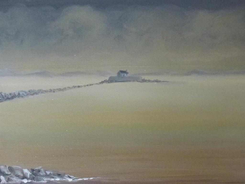 Morning - Porth Cwyfan image size 26cm x 60cm