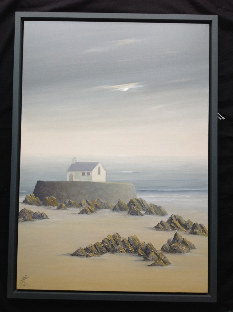 Porth Cwyfan, Anglesey - Evening Light, image size 106cm x 76cm