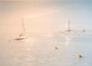 Mevagissey Cornwall - Morning Light Image Size 70 x 50 Ref 83 15