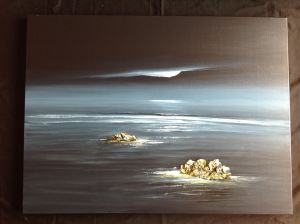 Moonlight - Newgale Beach, Pembs Image Size 100 x 75