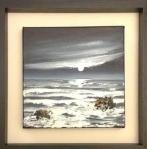 Wild Night -Trefin, Pembs image size 25cm x 25cm Ref 101 15