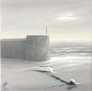 Shades of Grey Watchtower Bay, Barry 25x25 ref 32 17