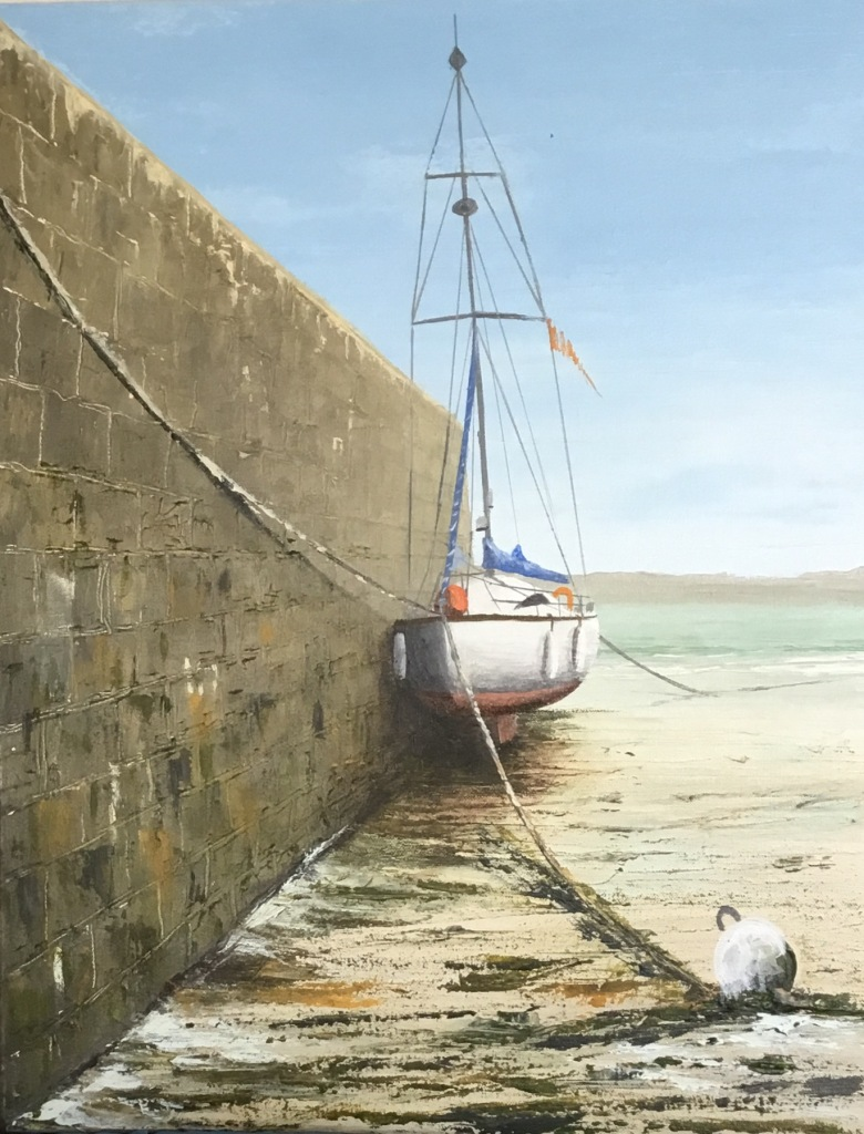 Harbour Wall - Perros Guirec 40x50 ref 36 17