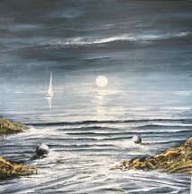 WAITING TO ENTER BARRY IN THE MOONLIGHT 50X50 REF 55 17