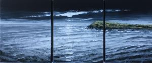 A NIGHT NOT TO VENTURE OUT TO SEA - SULLY ISLAND TRIPTYCH 27X35 EACH REF 95 17