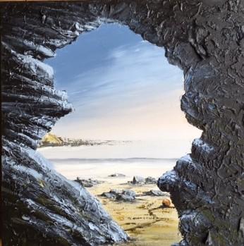 PENBRYN BEACH CEREDIGION IN THE EVENING REF 12 19 50X50