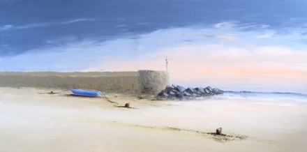 BLUE BOAT HARBOUR NEAR DINARD BRITTANY REF 13 19 100X50