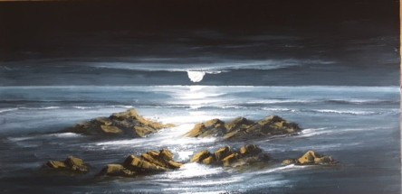 BRIGHT MOONLIGHT COPPETT HALL SAUNDERSFOOT REF 15 19 100X50