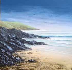 LIVELY SEA CASWELL BAY GOWER SWANSEA REF 5 19 50X50