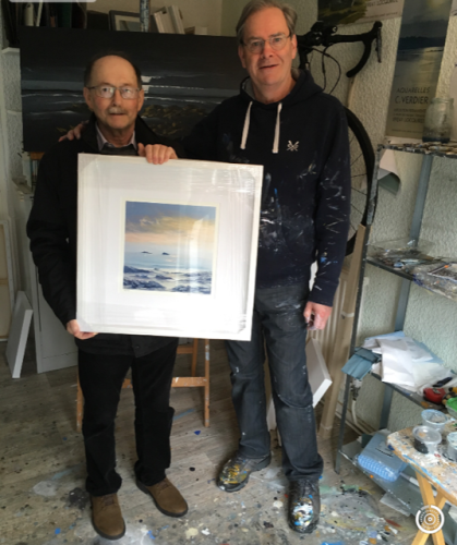 LLANTWIT PRINT DONATION MAYOR DAVID ELLIS