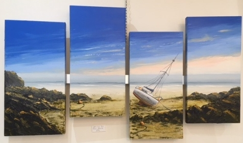 HIGH & DRY PORT EYNON GOWER REF 25 19 QUADTYCH EACH CANVAS 30X60