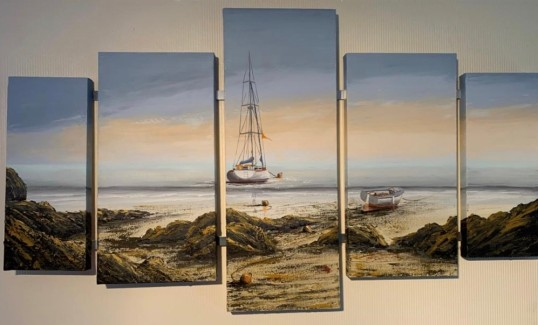 END OF DAY BAIE DE PAIMPOL QUINTYCH REF 57 19 MAX DIMENSIONS140cm x 80cm